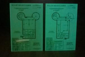 План эвакуации изготовленный из фотолюминесцентной плёнки_2
